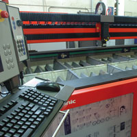 Workstation of laser cutting system